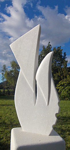 Stone sculptures by jocelynne bacci golden bay new zealand